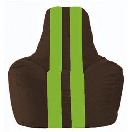 Кресло-мешок Спортинг коричневый - салатовый С1.1-325