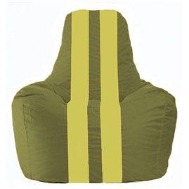 Кресло-мешок Спортинг оливковый - жёлтый С1.1-228