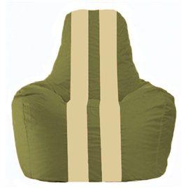 Кресло-мешок Спортинг оливковый - светло-бежевый С1.1-225