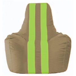 Кресло-мешок Спортинг бежевый - салатовый С1.1-88