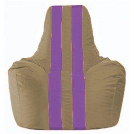 Кресло-мешок Спортинг бежевый - сиреневый С1.1-84