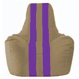 Кресло-мешок Спортинг бежевый - фиолетовый С1.1-79