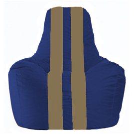 Кресло-мешок Спортинг синий - бежевый С1.1-114