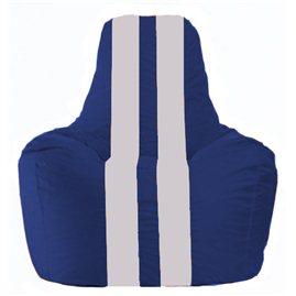 Кресло-мешок Спортинг синий - белый С1.1-125