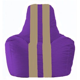Кресло-мешок Спортинг фиолетовый - бежевый С1.1-70