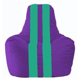 Кресло-мешок Спортинг фиолетовый - бирюзовый С1.1-75