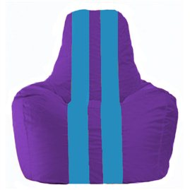 Кресло-мешок Спортинг фиолетовый - голубой С1.1-74