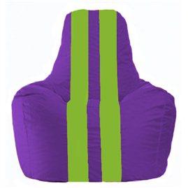 Кресло-мешок Спортинг фиолетовый - салатовый С1.1-31