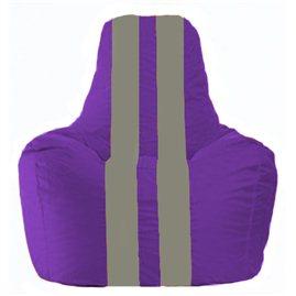 Кресло-мешок Спортинг фиолетовый - серый С1.1-72
