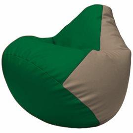 Кресло-мешок Груша Г2.3-0102 зелёный, светло-серый