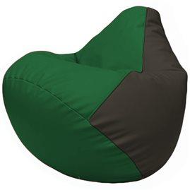 Кресло-мешок Груша Г2.3-0116 зелёный, чёрный