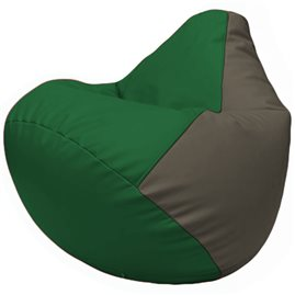 Кресло-мешок Груша Г2.3-0117 зелёный, серый