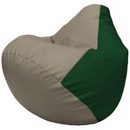 Кресло-мешок Груша Г2.3-0201 светло-серый, зелёный