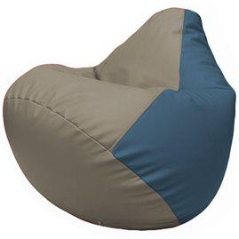 Кресло-мешок Груша Г2.3-0203 светло-серый, синий