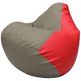 Кресло-мешок Груша Г2.3-0209 светло-серый, красный