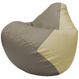 Кресло-мешок Груша Г2.3-0210 светло-серый, светло-бежевый