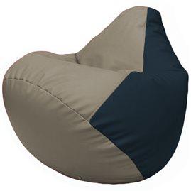 Кресло-мешок Груша Г2.3-0215 светло-серый, синий