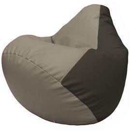 Кресло-мешок Груша Г2.3-0216 светло-серый, чёрный