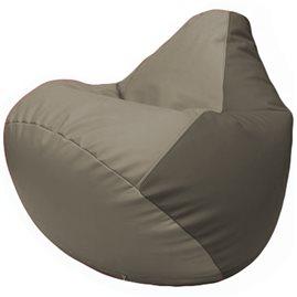 Кресло-мешок Груша Г2.3-0217 светло-серый, серый