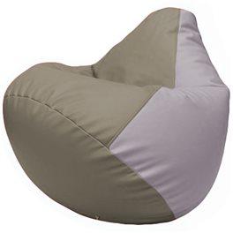 Кресло-мешок Груша Г2.3-0225 светло-серый, сиреневый
