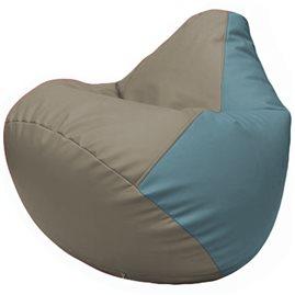 Кресло-мешок Груша Г2.3-0236 светло-серый, голубой