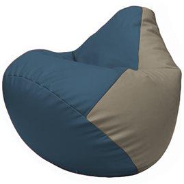 Кресло-мешок Груша Г2.3-0302 синий, светло-серый