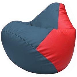 Кресло-мешок Груша Г2.3-0309 синий, красный