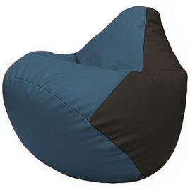 Кресло-мешок Груша Г2.3-0316 синий, чёрный