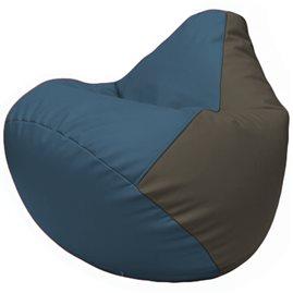 Кресло-мешок Груша Г2.3-0317 синий, серый