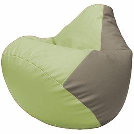 Кресло-мешок Груша Г2.3-0402 светло-салатовый, светло-серый