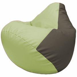 Кресло-мешок Груша Г2.3-0417 светло-салатовый, серый