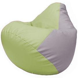 Кресло-мешок Груша Г2.3-0425 светло-салатовый, сиреневый