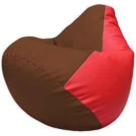 Кресло-мешок Груша Г2.3-0709 коричневый, красный