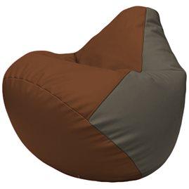Кресло-мешок Груша Г2.3-0717 коричневый, серый
