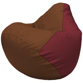 Кресло-мешок Груша Г2.3-0721 коричневый, бордовый