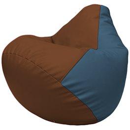 Кресло-мешок Груша Г2.3-0736 коричневый, голубой