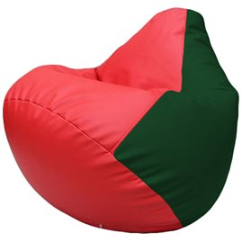 Кресло-мешок Груша Г2.3-0901 красный, зелёный