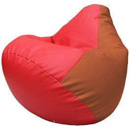 Кресло-мешок Груша Г2.3-0923 красный, оранжевый
