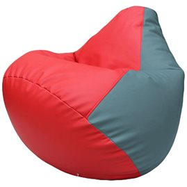 Кресло-мешок Груша Г2.3-0936 красный, голубой
