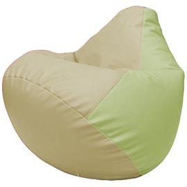 Кресло-мешок Груша Г2.3-1004 светло-бежевый, светло-салатовый