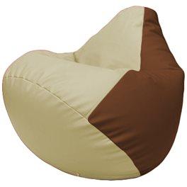 Кресло-мешок Груша Г2.3-1007 светло-бежевый, коричневый
