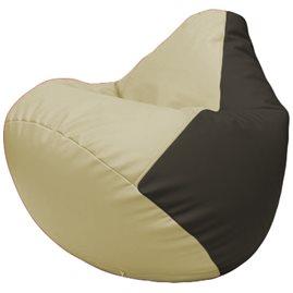 Кресло-мешок Груша Г2.3-1016 светло-бежевый, чёрный