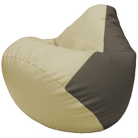 Кресло-мешок Груша Г2.3-1017 светло-бежевый, серый