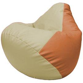 Кресло-мешок Груша Г2.3-1020 светло-бежевый, оранжевый
