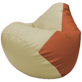 Кресло-мешок Груша Г2.3-1023 светло-бежевый, оранжевый