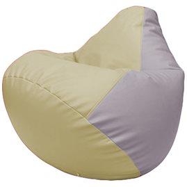 Кресло-мешок Груша Г2.3-1025 светло-бежевый, чиреневый