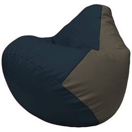 Кресло-мешок Груша Г2.3-1517 синий, серый