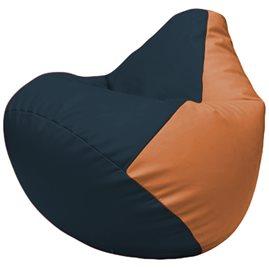 Кресло-мешок Груша Г2.3-1520 синий, оранжевый