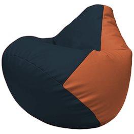 Кресло-мешок Груша Г2.3-1523 синий, оранжевый