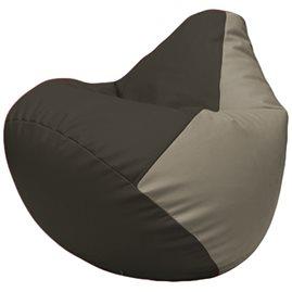 Кресло-мешок Груша Г2.3-1602 чёрный, светло-серый